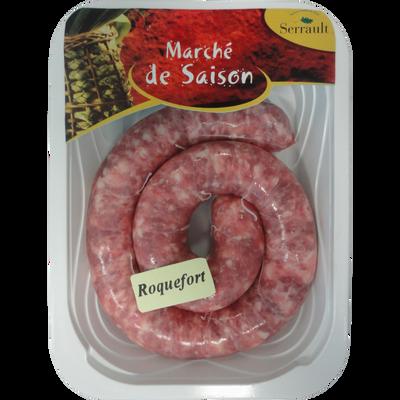 Saucisse au roquefort, France, 300g