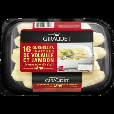 Quenelles de volaille et jambon GIRAUDET, 16x20g