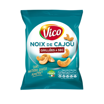 Noix de cajou grillées à sec VICO, sachet de 150g