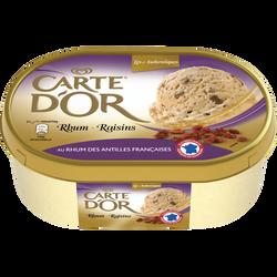 Crème glacée rhum raisins CARTE D'OR, 500g