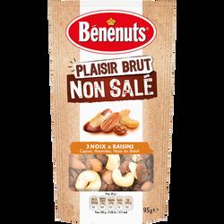 Plaisir brut non salé raisin, amandes, cajou, noix du Brésil BENENUTS, 95g