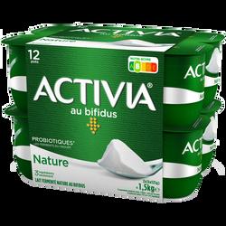 Lait fermenté nature au bifidus ACTIVIA, 12x125g