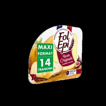 Fol épi Fromage Au Lait Pasteurisé En Tranches Fol Epi, 28% De Mg, 270g