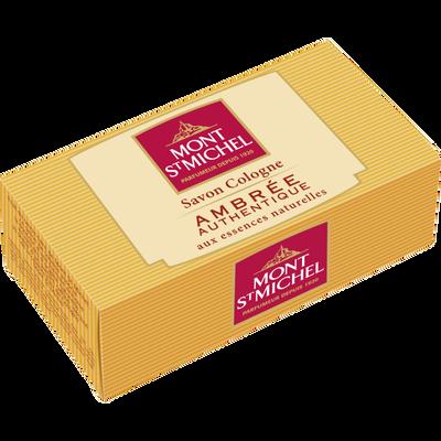 Savon parfumé à l'eau de cologne ambrée authentique MONT SAINT MICHEL,125g