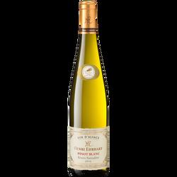 Vin blanc AOP Pinot médaillé HENRI ENRHART, bouteille de 75cl
