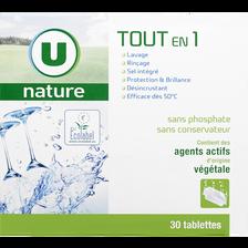 Tablettes lave-vaisselle tout en 1 U NATURE, x30