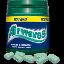 Chewing gum sans menthol, eucalyptus AIRWAVES, box dragées de 84g