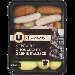 Choucroute garnie d'Alsace Saveurs U, 970g