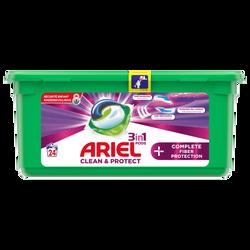 Lessive 3/1 complete fibre protection pods+ ARIEL, 24 doses soit 652,8g