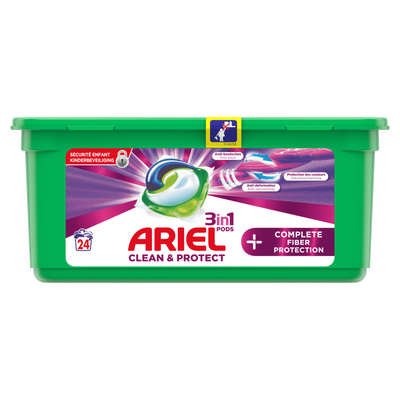 Lessive 3/1 complete fibre protection ARIEL pods+, x24 doses, 652,8g