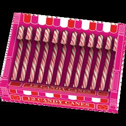 Chocolat candy canes rouge et blanc, 144g
