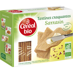 Tartines craquantes bio au sarrasin CEREAL BIO, 145g