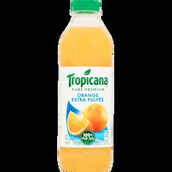 Pure jus d'orange extra pulpée premium TROPICANA, bouteille de 1l