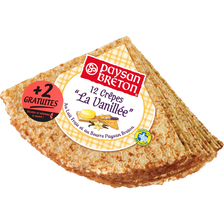 Paysan Breton Crêpes Saveur Bretonne La Vanillée , Paquet De 12+2gratuites, 432g