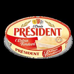 Fromage lait pasteurisé ovale extra fondant 31% PRESIDENT 200g