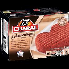 Charal Steack Haché L'authentique , 10% De Matière Grasse, 8 Unités De125g