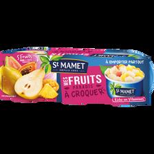 Mes fruits à croquer exotique ST MAMET, 3 boîtes, 1/4, 240g