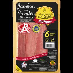 Jambon de Vendée PETITGAS, 6 tranches fines, 120g