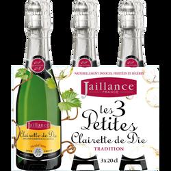 Clairette de Die AOP tradition Jaillance 7,50° blle 3x20cl