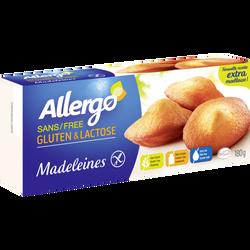 Madeleines sans gluten et lactose ALLERGO, x6 soit 180g