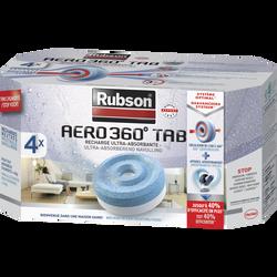 """Recharges """"Power Tabs 2 en 1"""" pour absorbeur Stop Humidité RUBSON, 4 unités"""
