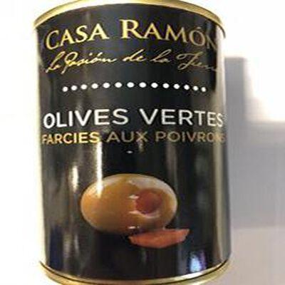Olives Vertes Farcies aux Poivrons 120g