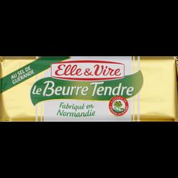 Beurre tendre demi-sel 80% de matière grasse ELLE&VIRE, 250g