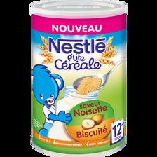 P'tite céréale noisette biscuitée 12 mois, NESTLE, 400g