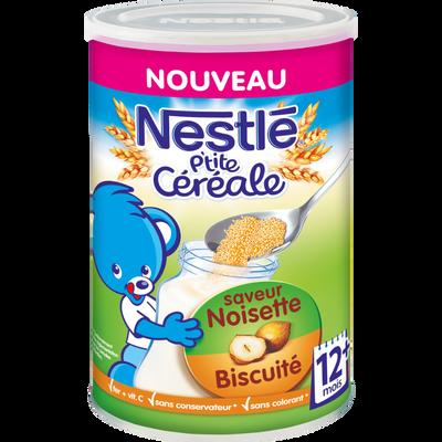 P'tite céréale noisette biscuitée NESTLÉ, 12 mois, boite de 400g