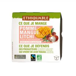Purée Pomme/Mangue/Litchi BIO ETHIQUABLE 4x100g