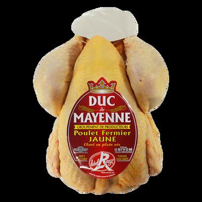 Poulet fermier jaune DUC DE MAYENNE, sous bdf 1,7kg