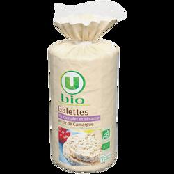 Galettes riz complet et sésame au riz de Camargue U BIO, paquet de 130g