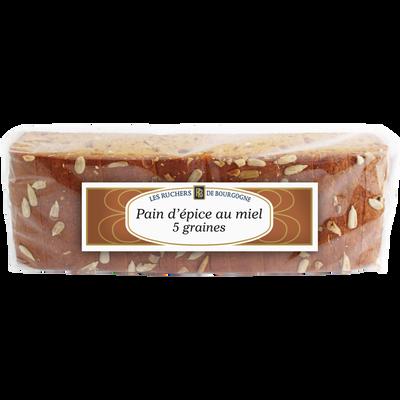 Pain d'épices aux 5 graines tranché RUCHERS BOURGOGNE, 300g