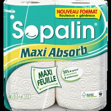 Essuie-tout maxi absorbant SOPALIN, 2 rouleaux