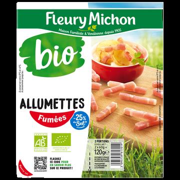 Fleury Michon Allumettes Fumées Bio -25% De Sel Fleury Michon 2x60g 120g