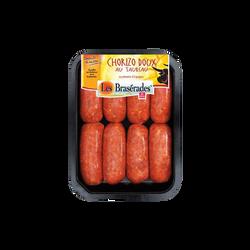 Chorizo doux au taureau, LES BRASERADES, barquette, 360g