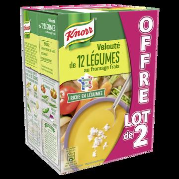 Knorr Soupe Velouté De 12 Légumes Au Fromage Frais Knorr, 2x1l