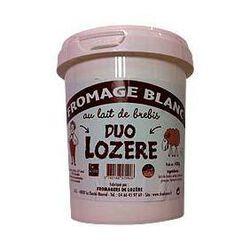 Fromage blanc de brebis au lait pasteurisé DUO LOZERE, 7%MG, pot de 400g