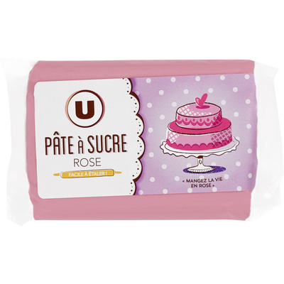 Pâte à sucre paton rose U, 250g