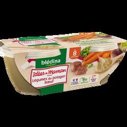 Les idées de maman légumes du pot au feu BLEDINA, dès 6 mois, 2x200g