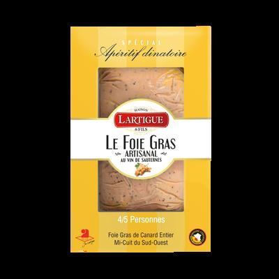 Foie gras de canard entier mi-cuit du Sud-Ouest au vin de sauternes lartigue et fils 150g