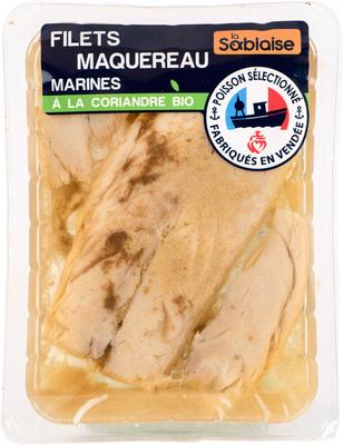 Filet de maquereaux à la coriandre, BIO, LA SABLAISE,transformé en France, 150g