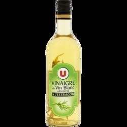 Vinaigre de Vin Blanc aromatisé à l'éstragon 6° U, bouteille de 75cl
