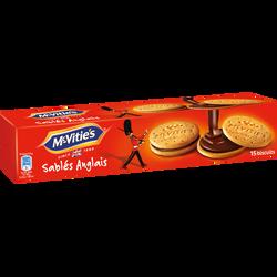 Sablés anglais fourrés au chocolat MC'VITIES, paquet de 205g