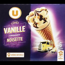 Cônes à la vanille U, 6x384g