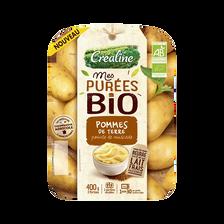 Purée pommes de terre pointe de muscade, BIO, CREALINE, barquette 2x200g
