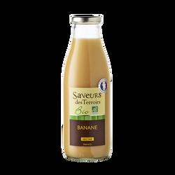 Nectar de banane bio SAVEURS DES TERROIRS, bouteille de 75cl