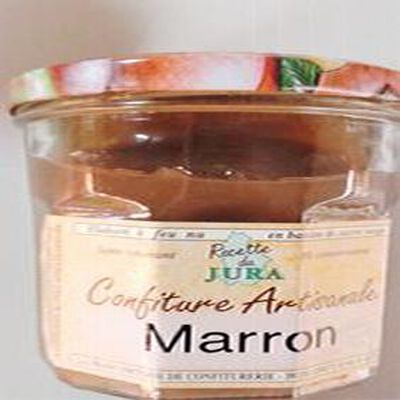 Confiture de Marron au vieux Marc du Jura, Recette du Jura, 430g