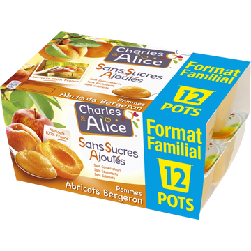 Charles & Alice Spéc.de Fruits Pomme/abricot Charles&alice 12x100g For.fami.