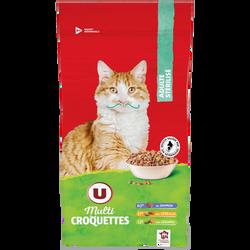 Croquettes pour chat adulte stérilisé au saumon, céréales et légumes U, 2kg